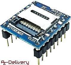 AZDelivery ⭐⭐⭐⭐⭐ WTV020 Reproductor MP3 con Lector de Tarjetas MicroSD modulo Audio para Arduino