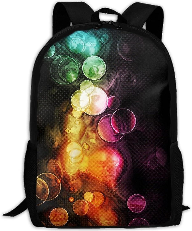Backpack Briefcase Laptop Travel Hiking School Bags colorful Bubbles Daypack Shoulder Bag