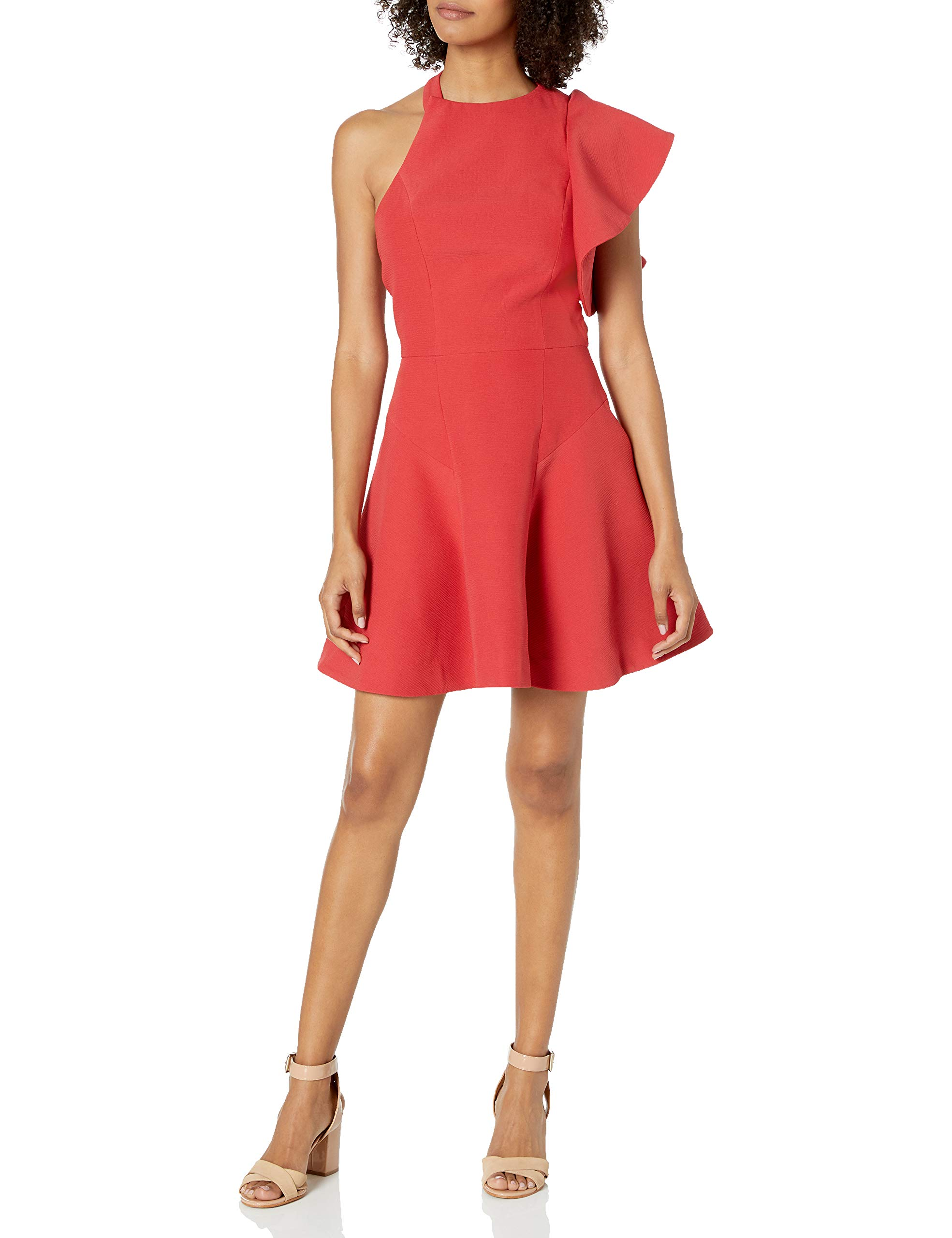 Available at Amazon: C/Meo Collective Women's Infinite Fit & Flare Ruffle Mini Party Dress
