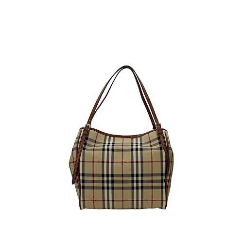 5686df4d5734 Burberry Women s  Small Canter  Horseferry Check Tote Bag with Equestrian  Saddle Straps ...