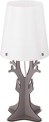 Eglo 49366 Lampe de Table, Bois, 40 W, Gris