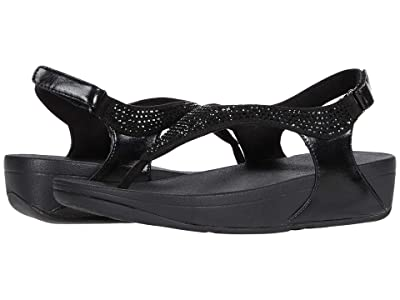 FitFlop Skylar Crystal Toe Thong (Black) Women