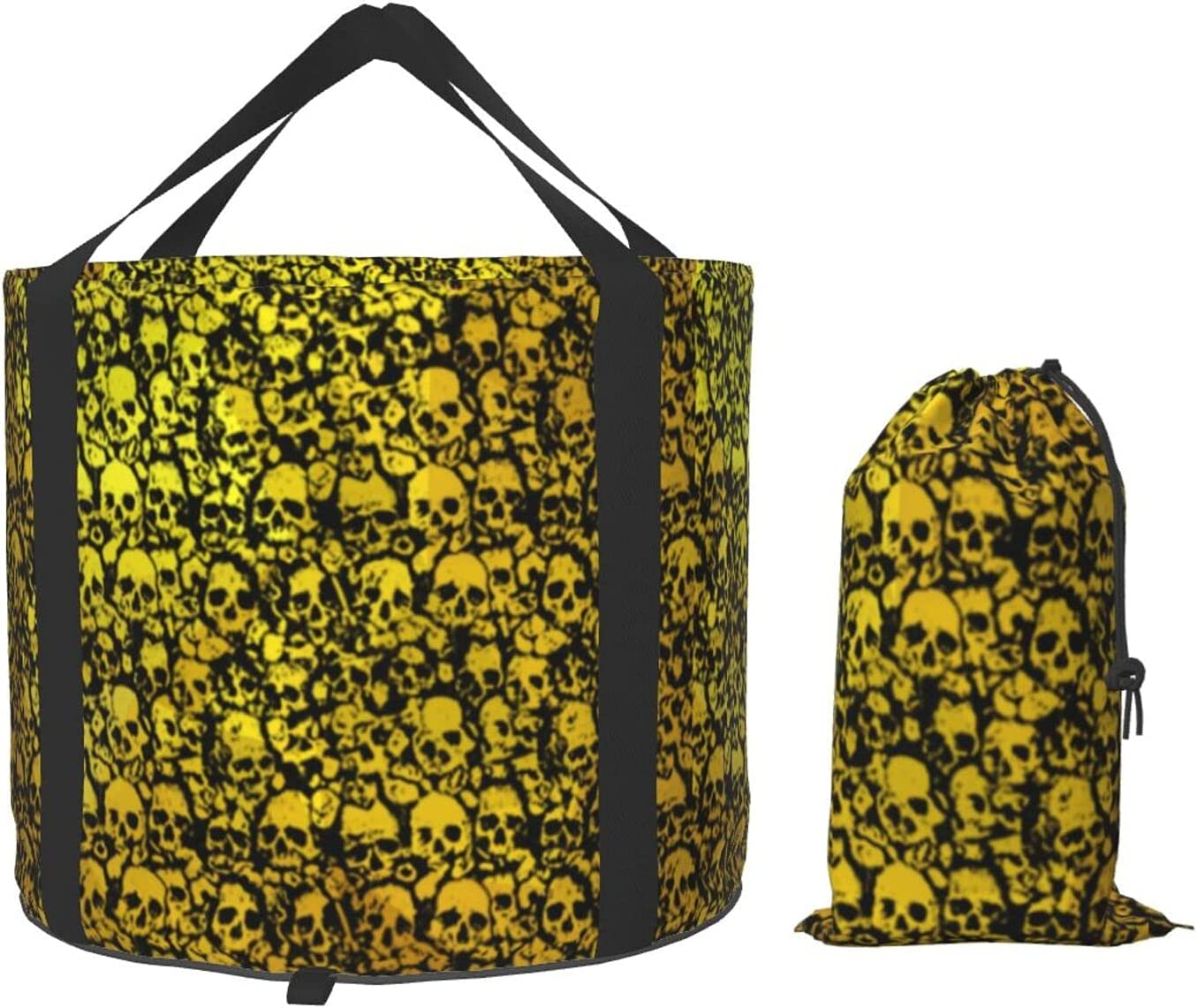 2021 autumn and winter new Multifunctional Portable Collapsible Bucket Skull Hall Gold Wall Store