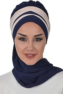 Shawl for Women Modesty Chiffon Turban Cap Hat Head Wrap Instant Scarf
