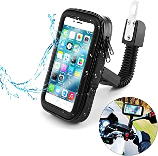 Support mobile moto - imperméable - support téléphone moto - avec étui coque mobile pour Lluvia - support smartphone moto...