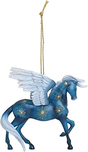 Enesco Trail Of Painted Ponies Night Flight Stone Resin Horse 2 38 Hanging Ornament Blue