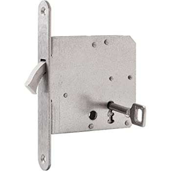 nemef 9751620011 Puerta Corredera Cerradura con arco cerrojo Incluye Cerradero, niquelado, mandril 65 mm: Amazon.es: Bricolaje y herramientas