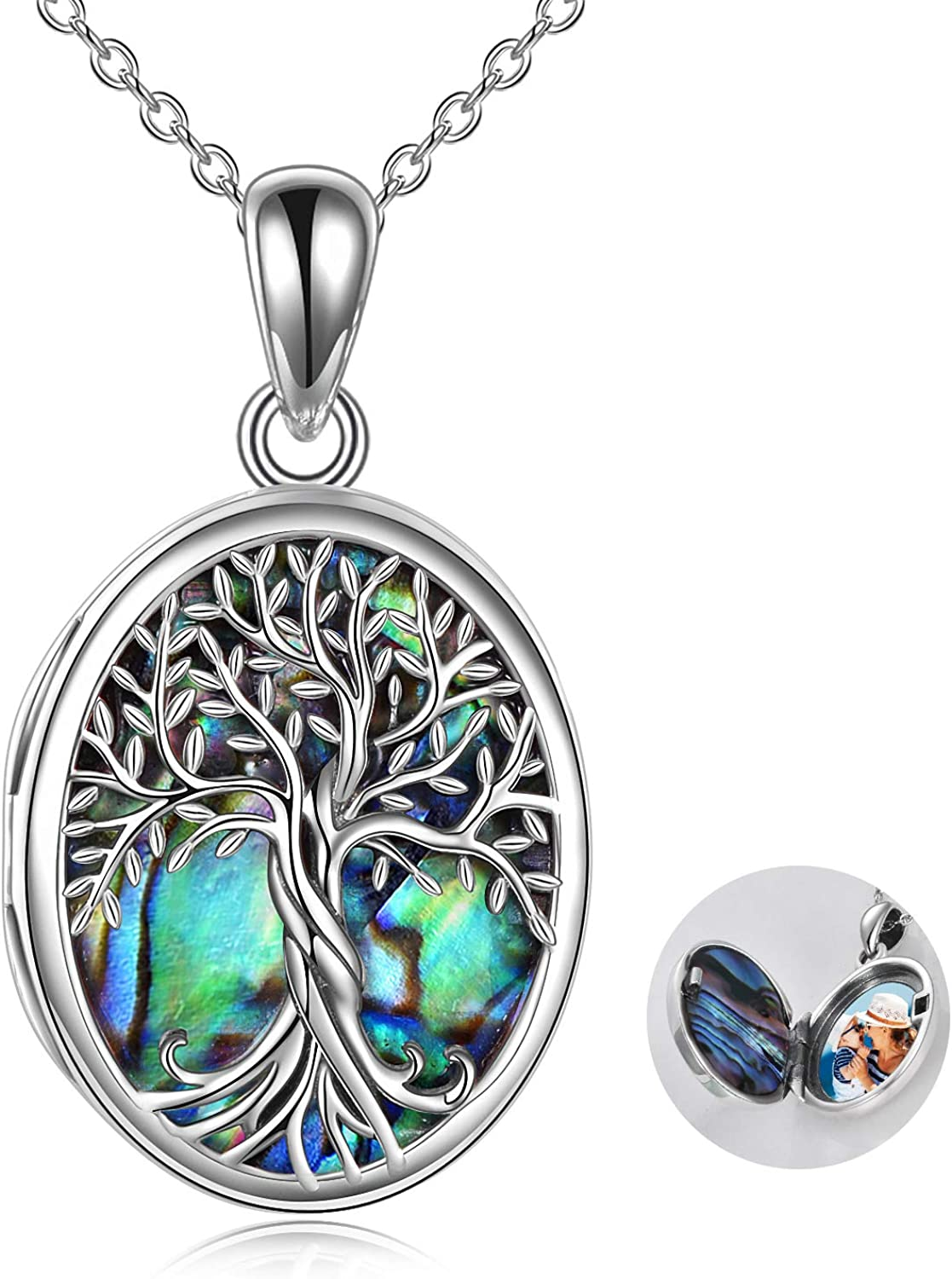 Tree Bargain sale of Life Locket Sterling Necklace Tha Max 77% OFF Silver