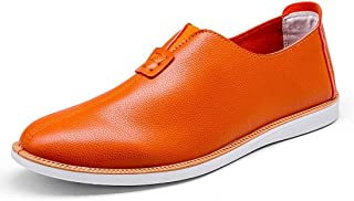 Gaorui Men's Comfy Slip On Casual Shoes Loafers Soft Leather Driving Moccasins Flat Pumps