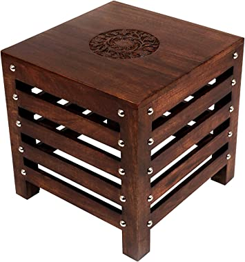 Amaze Shoppee Wooden Beautiful Handmade Stool   Table   for Office   Home Furniture   Outdoor   Décor - Brown(1)