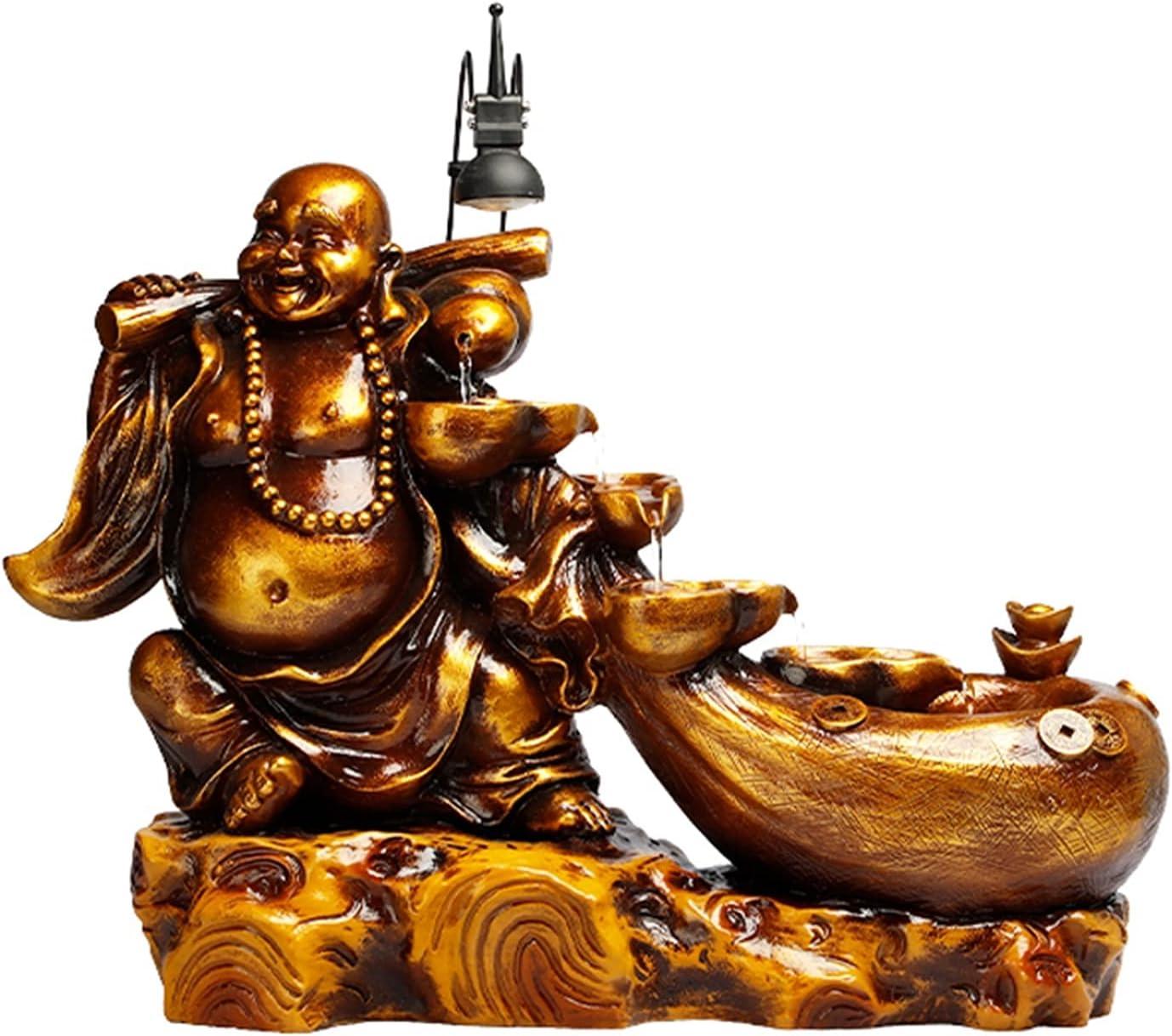 hongbanlemp Bombing new work Cheap SALE Start Tabletop Fountains 16.5 Buddha Inch Waterfa