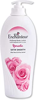 Enchanteur Romantic Perfumed Body Lotion, 500ml, with Aloe Vera & Olive Butter for Silky Smooth Skin