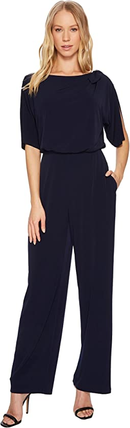 Vince Camuto - Split Sleeve Jumpsuit with Tie At Shoulder