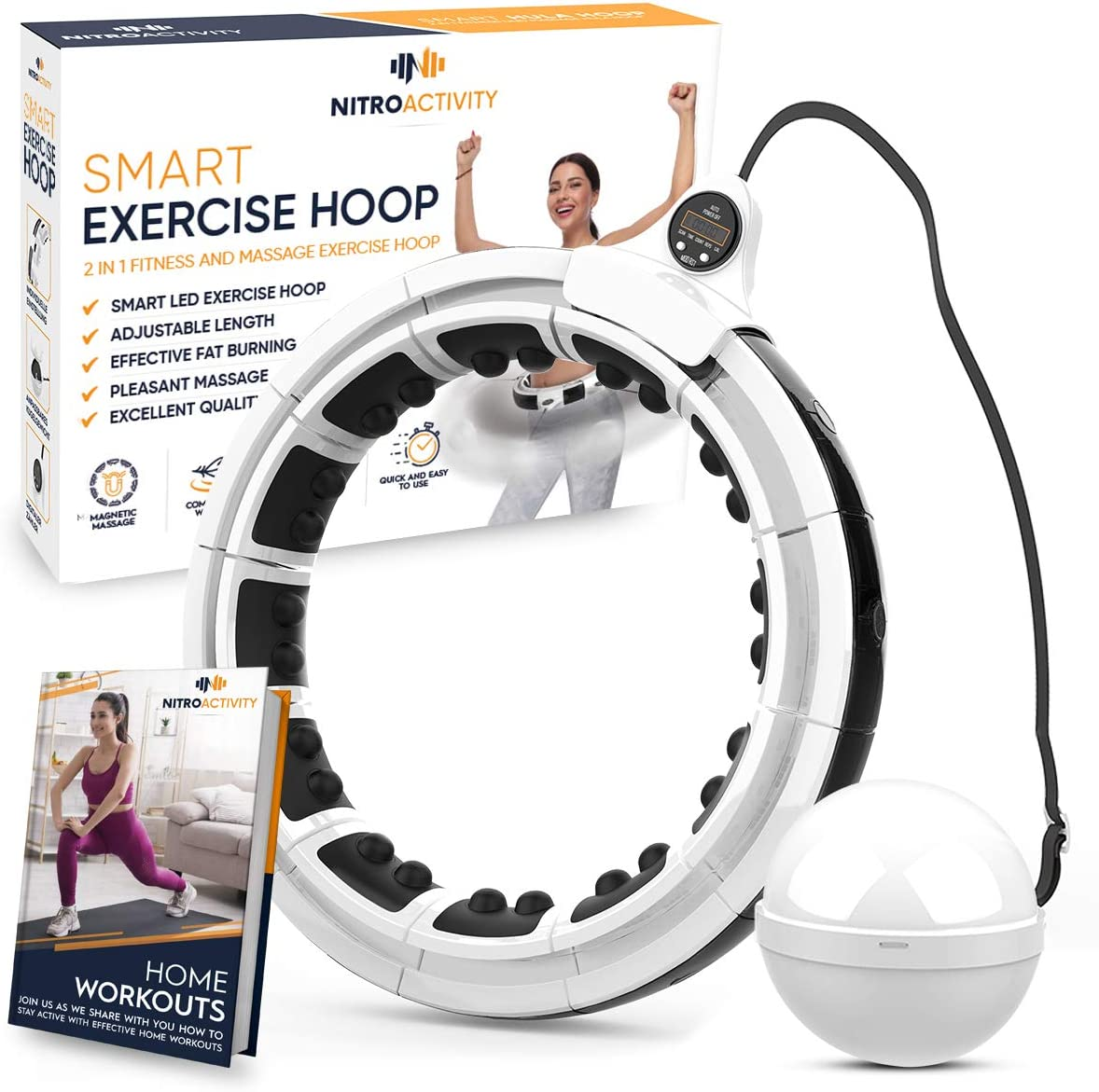 NitroActivity Special price Smart Weighted Hula Hoop Fitness - low-pricing Adults Exer for
