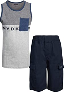 DKNY Boys' 2-Piece Summer Tank Top and Cargo Short Set