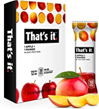 That's it. Apple + Mango 100% Natural Real Fruit Bar, Best High Fiber Vegan, Gluten Free Healthy Snack, Paleo for Children & Adults, Non GMO No Sugar Added, No Preservatives Energy Food (12 Pack)