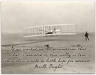 Lone Star Art Wright Brothers First Successful Flight - 11x14 طباعة غير مؤطرة - هدية رائعة أقل من 15 دولارًا للطيارين