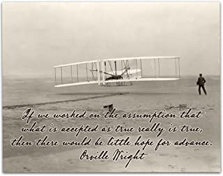 Lone Star Art Wright Brothers First Successful Flight - 11x14 Unframed Print - Great Gift Under $15 for Pilots