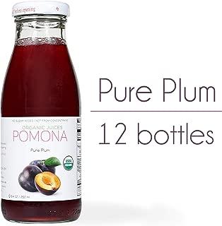 Pomona Organic Juices Pure Juice, Plum, 8.4 Ounce Bottle (Pack of 12)