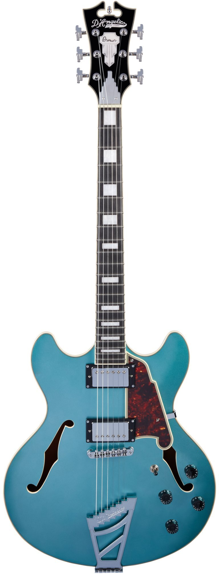 Cheap D Angelico Premier DC 12-String Semi-Hollow Electric Guitar - Ocean Turquoise Black Friday & Cyber Monday 2019