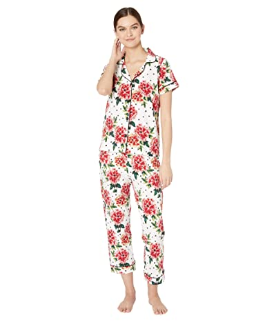 BedHead Pajamas Short Sleeve Cropped Pajama Set (Room To Bloom) Women
