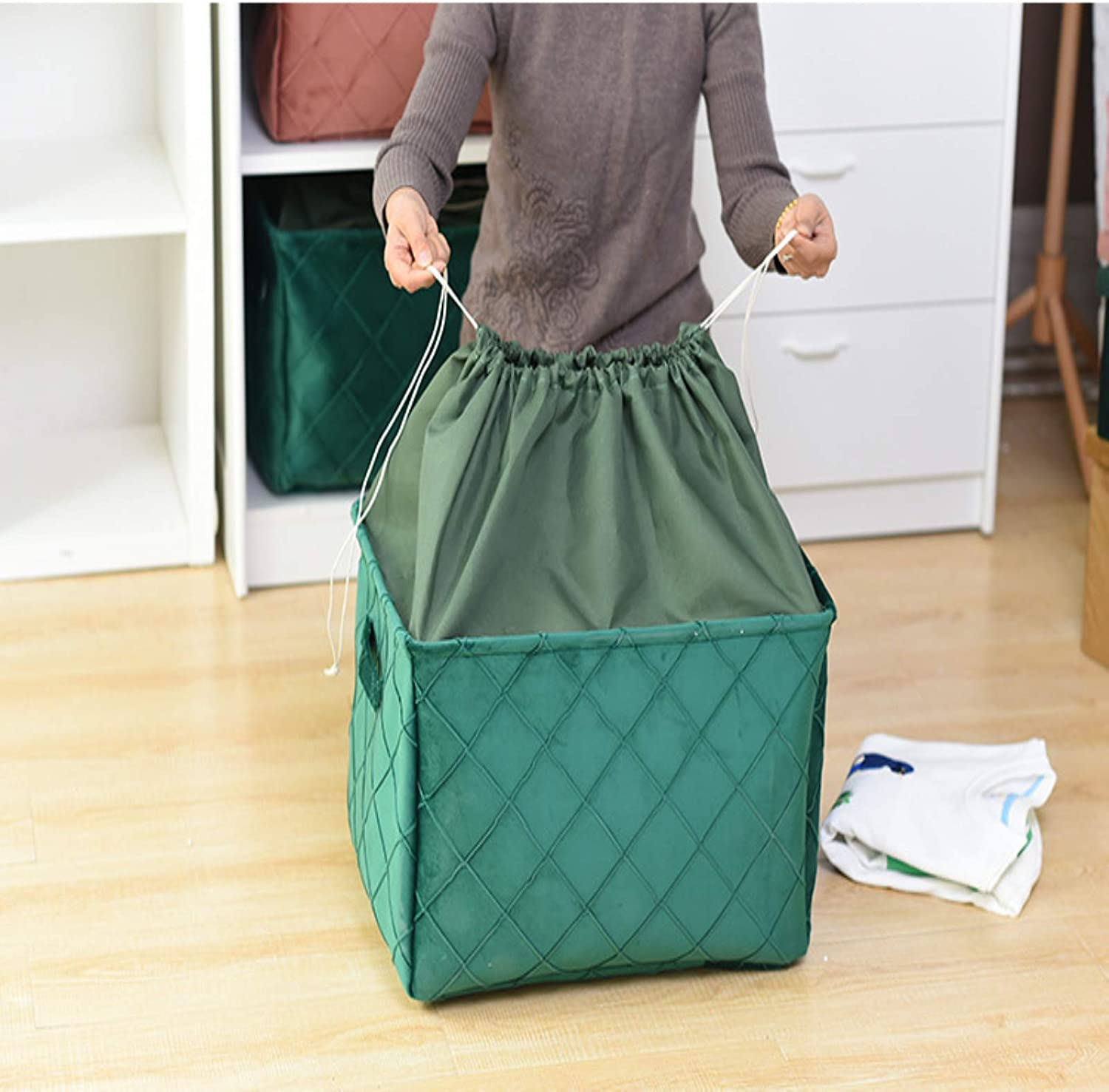 QZH Storage Bins 3-Pack Fabric Over item handling ☆ Gift for Baskets Empty Popular popular