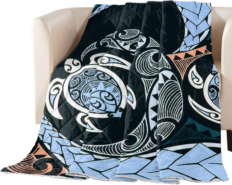 Reservation Rapid rise Comforter Duvet Insert Home Quilt Blue Polynesi Minimalist Black
