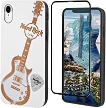 "Hard Rock Cafe Guitar Wood Phone Case, iPhone by iProductsUS Includes Glass Screen Protector, Shockproof Protective Case, Wireless 4.7"" - For iPhone 8, 7, 6, 6S White ipu-8201-ip-white+9H"