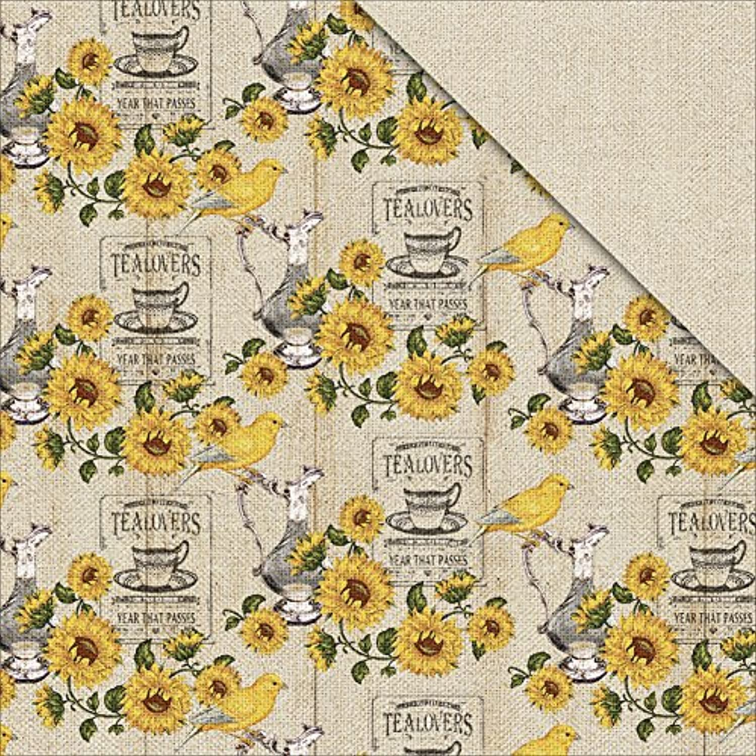 FabScraps Country Kitchen Double, Sided Cardstock, 25 Sheets, 12