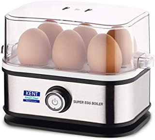 KENT 16069 Super Egg Boiler 400W   Boils Upto 6 Eggs at a Time   3 Boiling Modes   Stainless Steel Body and Heating Plate...