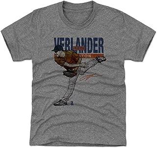 500 LEVEL Justin Verlander Houston Baseball Kids Shirt - Justin Verlander Sketch