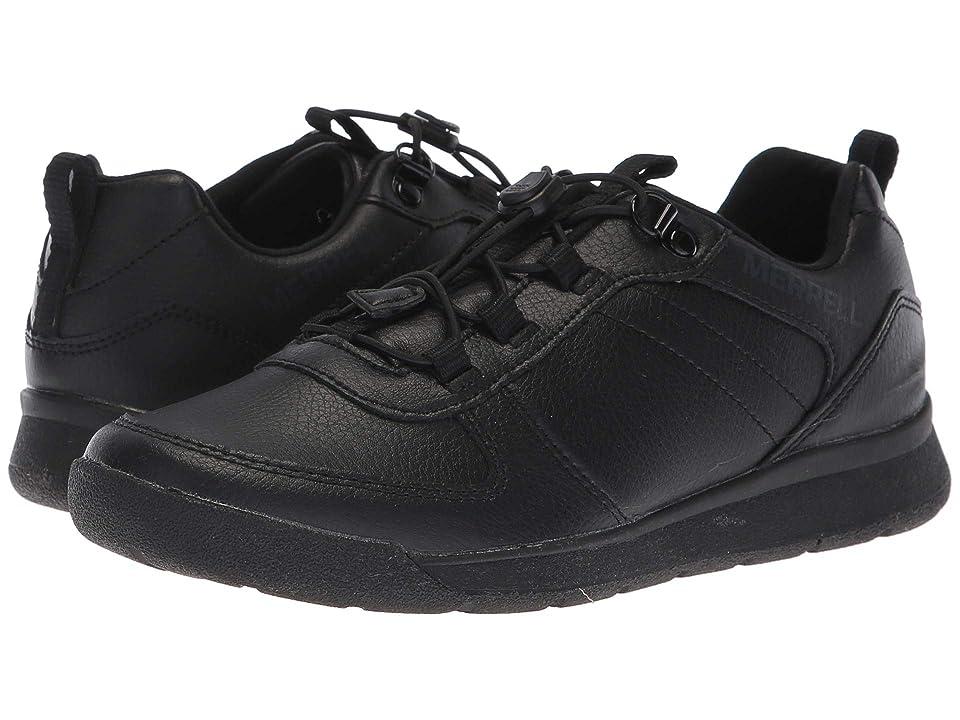 Merrell Kids Burnt Rock Low (Big Kid) (Black) Boys Shoes