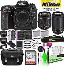 $1540 » Nikon D7500 DSLR Digital Camera with 18-55mm and 70-300mm Lenses (13543) USA Model Deluxe Bundle -Includes- Sandisk 64GB SD Card + Nikon Bag + Filter Kit + Spare Battery + Telephoto Lens + More