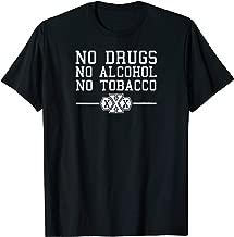 drug alcohol and tobacco free straight edge t-shirt