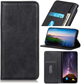 RanTuo Phone Case for Realme C21Y, with Card Slots, Bracket, TPU + PU Leather, Flip Case Cover for Realme C21Y.(Black)