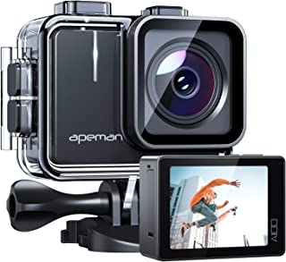 APEMAN A100 Action Camera 4K 30fps Ultra HD 20MP WiFi Sports Underwater Waterproof 40M Camcorder cam with EIS Dual 1350 mA...