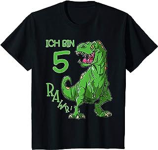 Kinder Ich bin 5 Geburtstag Jungen Dino T-Rex Dinosaurier Geschenk T-Shirt