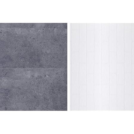 STUDIO-STYLE フォトスタイリングボード <写真撮影用背景ボード>  無機質(コンクリート/白タイル)
