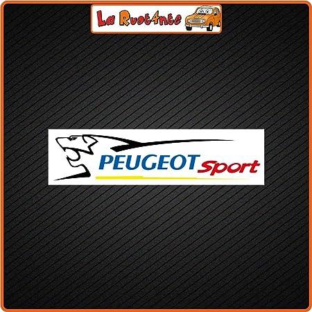 Adesivo per Peugeot Sport giallo accessorio decorativo per auto per 206 207 208 307 308 107 5008 RACING DIRECT set di 2 adesivi con logo