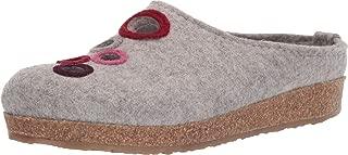 HAFLINGER Women's Grizzly Bubble Wool Clogs, Silver Grey, 42 EU