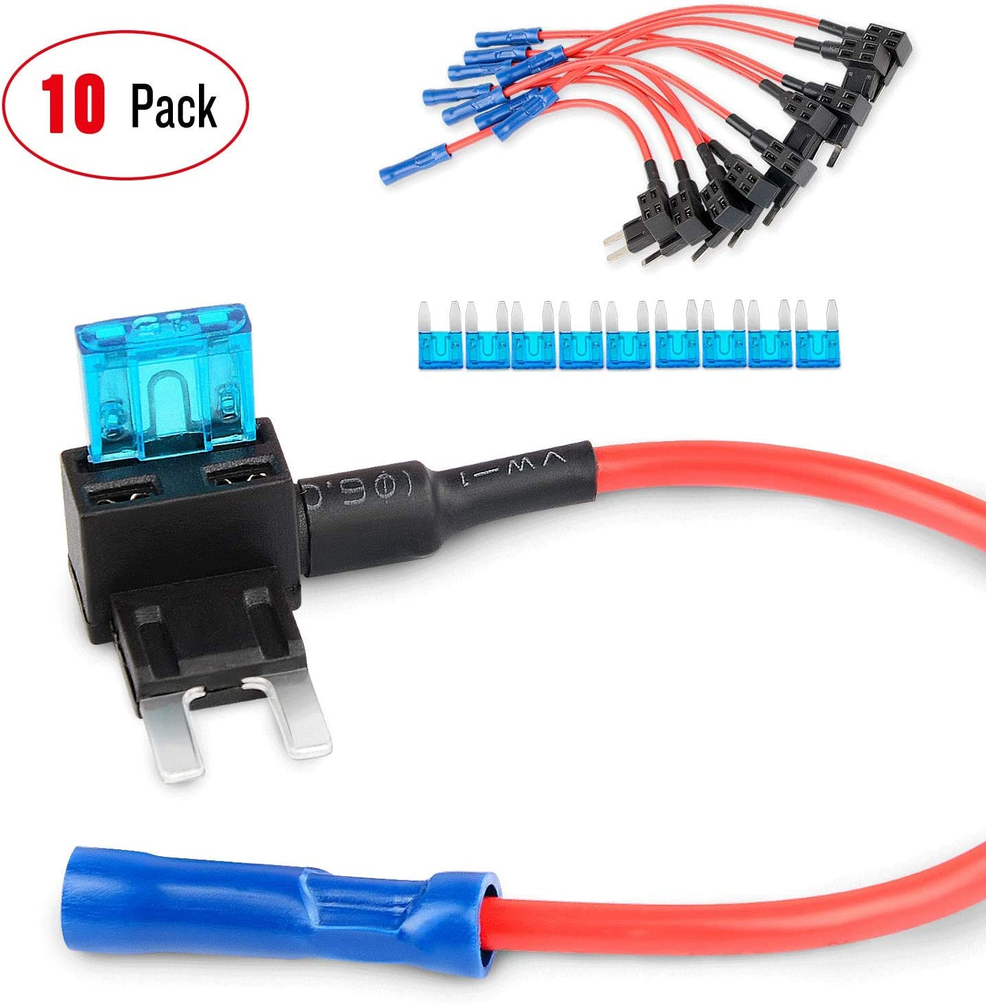 amazon.com: nilight fuse holder add-a-circuit fuse tap adapter mini atm apm  blade fuse holder-10 pack , 2 years warranty : automotive  amazon.com