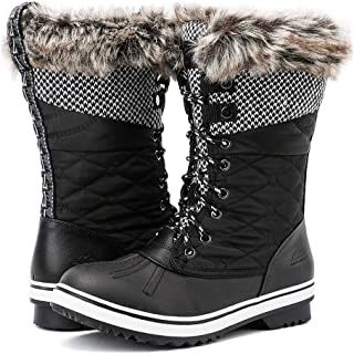 Women's Mid-Calf Waterproof Cold-Weather Snow Boots