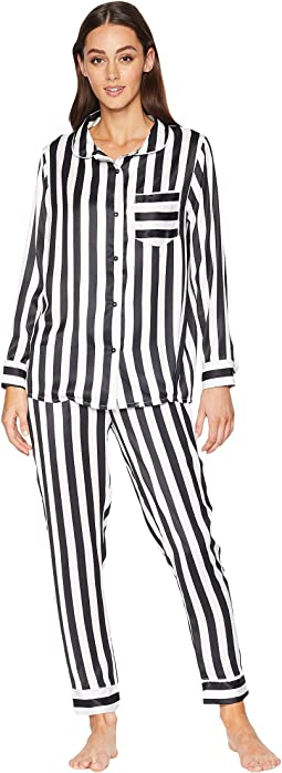 Silky Striped PJ Set
