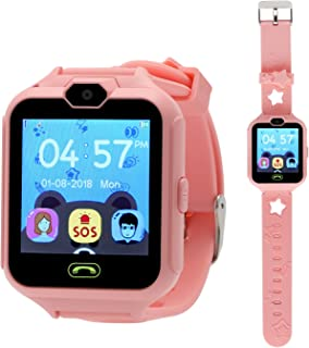 aolee Kids Phone Smart Watch Games Watch for 4-15 Years Old Children Digital Watch Touch Screen Camera Anti-Lost Pedometer Clock etc (Pink)