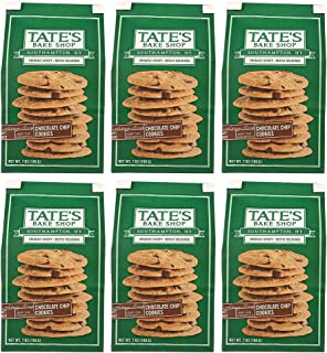 Tate's Bake Shop Thin & Crispy Cookies, Chocolate Chip, 7 Oz, Pack Of 6