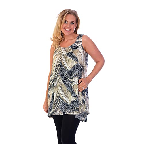 4f834ea09fd2f New Womens Plus Size Top Ladies Lace Feather Sequin Sleeveless Tunic Long  Sale Nouvelle Plus Sizes