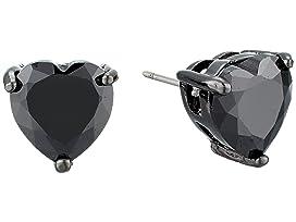 CZ Hearts Earrings