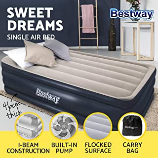 Bestway Air Bed Twin Inflatable Mattress Sleeping Mats Home Camping Built-in Pump & Pillow