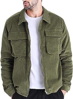 Sunward Coat for Men,Mens Autumn Stylish Coat Long Sleeve Solid Tops Corduroy Casual Blouse Casual
