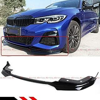 Performance Style Glossy Black Front Bumper Lip Spoiler Splitter Kit For 2019-2020 BMW G20 G28 330i M340i M Sport
